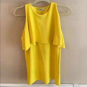 Zara Trafaluc Yellow Dress Size Small